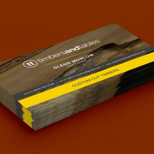• TIMBERS AND TABLES • Business Card